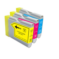3-Pack COLOR Compatible Ink for Brother LC51