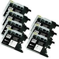 7-Pack BLACK Compatible Ink for Brother LC75BK
