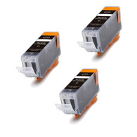 3 Pack BLACK Compatible Ink for Canon BCI-3eBK