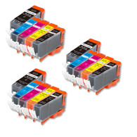 15-Pack Compatible Ink w/ Chip for Canon PGI-220/CLI-221