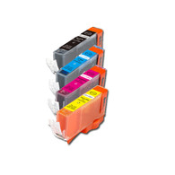 4-Pack COLOR Compatible Ink w/ Chip for Canon CLI-221