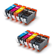 10-Pack Compatible Ink w/ Chip for Canon PGI-225/CLI-226