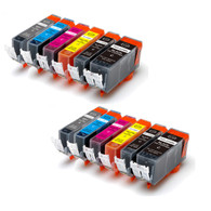 12-Pack Compatible Ink w/ GREY for Canon PGI-225/CLI-226