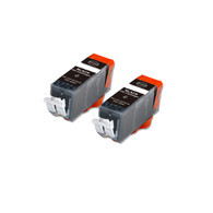 2-Pack BLACK Compatible Ink w/ Chip for Canon PGI-225