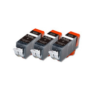 3-Pack BLACK Compatible Ink w/ Chip for Canon PGI-225
