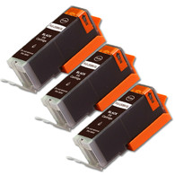 3-Pack BLACK Compatible Ink w/ Chip for Canon PGI-250XL