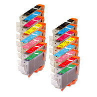16-Pack Canon CLI-8 Compatible Ink includes R & G