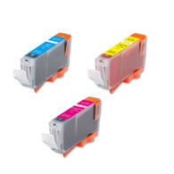 3-Pack Color CMY Canon CLI-8 Compatible w/ chip