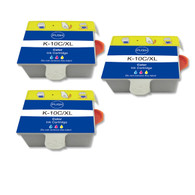 3-Pack (Color Only) Compatible Ink Cartridge for Kodak No. 10