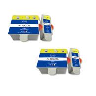 4-Pack (2 Black 2 Color) Ink Cartridges for Kodak No. 10