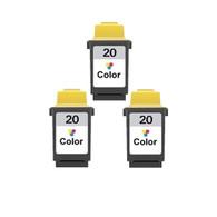 3-Pack Lexmark #20 Color Ink Cartridge - Remanufactured
