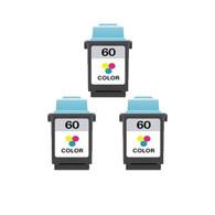 3-Pack Lexmark #60 Color Ink Cartridge - Remanufactured