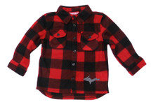 U.P. Red Black Plaid Long Sleeve Button Down (Toddler)