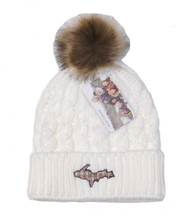 Plaid U.P. Winter Hat - Cream/Brown