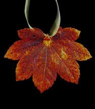Full Moon Maple Leaf Ornament