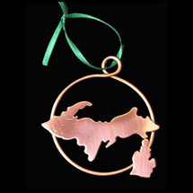 Copper Michigan Ornament