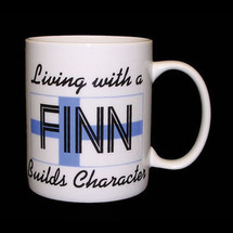 Living with a Finn Builds Character Mug