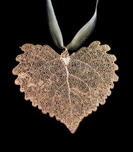 Cottonwood Leaf Ornament - Gold