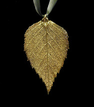 Birch Leaf Ornament - Gold