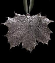 Sugar Maple Leaf Ornament - Silver