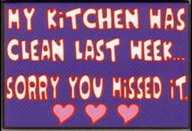 Kitchen Clean Last Week Magnet