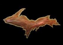 Copper Upper Peninsula Wall Hanging (LG)