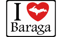 I Love Baraga Car Magnet