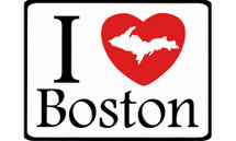 I Love Boston Car Magnet