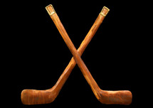 Copper Hockey Sticks Wall Hanging