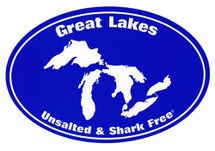 Great Lakes: Unsalted & Shark Free Bumper Sticker
