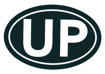 UP Bumper Sticker (Green/White)