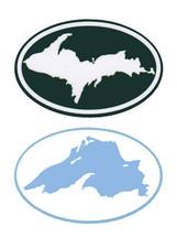 Upper Peninsula - Lake Superior Mini Bumper Stickers