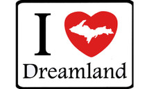I Love Dreamland Car Magnet
