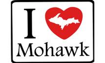 I Love Mohawk Car Magnet