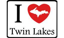 I Love Twin Lakes Car Magnet