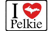 I Love Pelkie Car Magnet