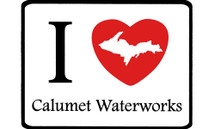 I Love Calumet Waterworks Car Magnet