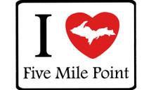 I Love Five Mile Point Car Magnet