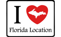 I Love Florida Location Car Magnet