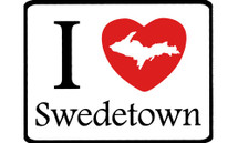 I Love Swedetown Car Magnet
