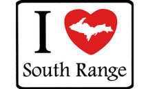 I Love South Range Car Magnet