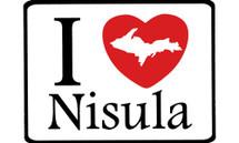 I Love Nisula Car Magnet