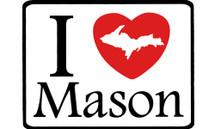 I Love Mason Car Magnet