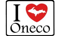I Love Oneco Car Magnet