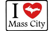 I Love Mass City Car Magnet