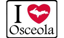 I Love Osceola Car Magnet