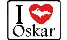 I Love Oskar Car Magnet