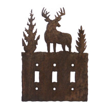 Deer Switch Plate Cover - Triple