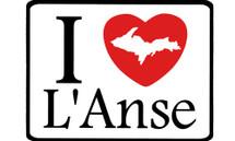 I Love L'Anse Car Magnet