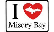 I Love Misery Bay Car Magnet